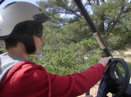 Boy Driving Rhino