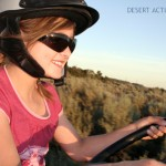 girl driving rhino